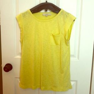 Loft- Size S, Chartreuse yellow top